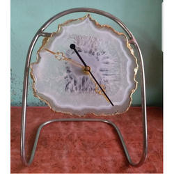 Agate Table Clock, Packaging Type: Box