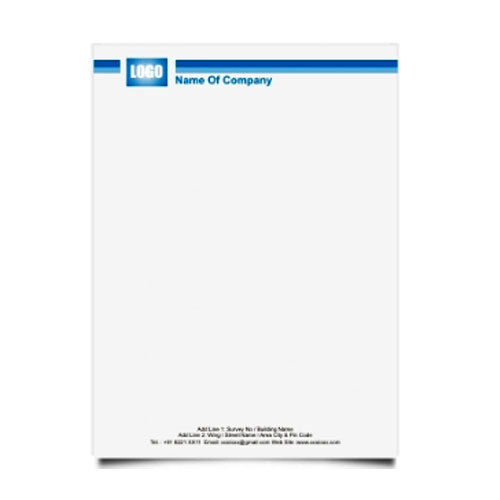 Corporate Letterhead Template At Rs 2 Piece: Official Letter Head At Rs 3.5 /piece