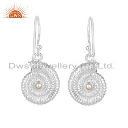 Shell Design Handmade 925 Sterling Silver Pearl Earrings Jewelry