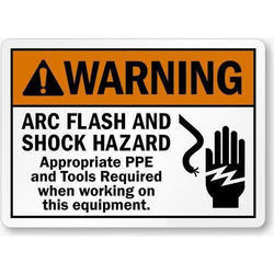 Vinyl Hazard Sign Sticker, Shape: Rectangle