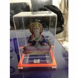 JIYA Acrylic Jhulelal Transparent Donation Box