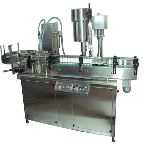 Automatic Sanitizer Bottle Filling and Capping Machine