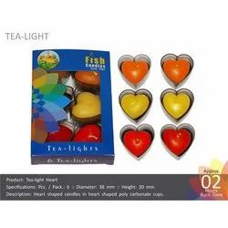 Tea-Light Heart Candles