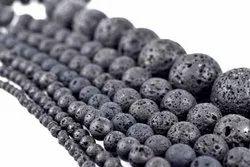 Plain Black Natural Lava Beads 4mm 6mm 8mm 10mm 12mm 14mm Lava Rock Jewelry Beads