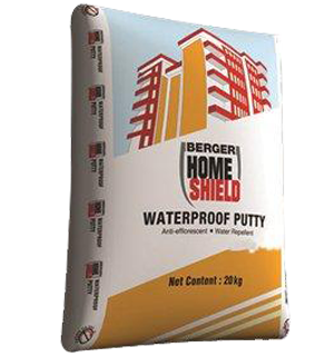 White Cement Berger Putty, Packing Size: 20 kg