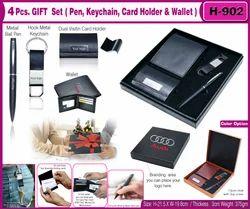 4Pcs Gift Set(Pen,Keychain,Wallet & Card Holder) H-902