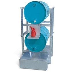 SS Oil Drum Storage Racks