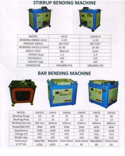 Semi Automatic TMT Bar Bending Machine