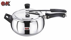 OK Stainless Steel Handi Shape 6.5 Ltr Pressure Cooker, for Home