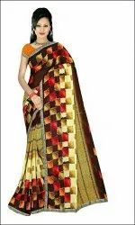 Multi Printed Rennial Art Silk Saree, 6 Meter