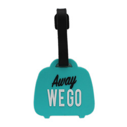 Luggage Tag Away We Go - Blue (6LNT39)