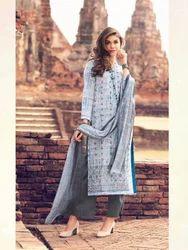 Grey Salwar Kameez in Cambric