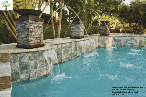 Sheet Water Fall with Laminar Jet