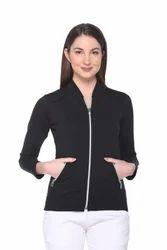 Women Full Sleeve Self Design Jacket