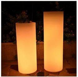 LED Round Flower Pot