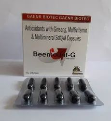 Ginseng,Multivitamin,Multiminerals & Antioxidants Soft gel caps)