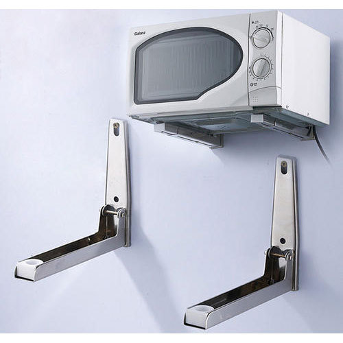Silver Stainless Steel Microwave Wall Mount Stand