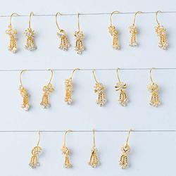 Gold CZ Baby Dull Earring