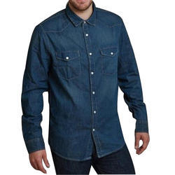 7981915b3b0 Mens Denim Plain Fitted Shirt