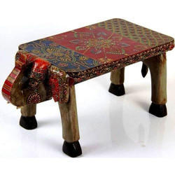 Wooden Decorative Elephant Table