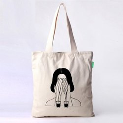 Anoo's Loop Handle Printed Cotton Bag, Capacity: 5-7 Kg, Size/Dimension: 10 X 12 Inch