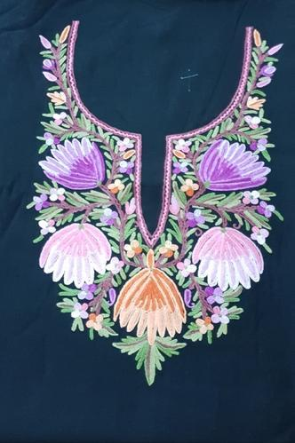 Regular Wear Cotton Kashmiri Embroidery Aari Work Dress Material Rs