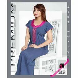 Women''s Half Sleeve Printed Nighty