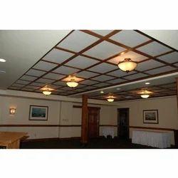 White Gypsum Grid Ceiling Installation Services