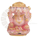 Polished Ur Astro Panchmukhi Rose Ganesha Idol