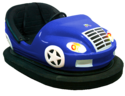 Striking Car Amusement Game Ride - Floor Pickup