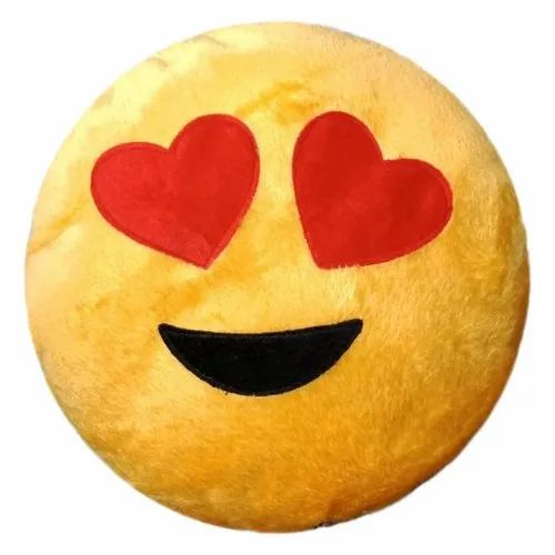 Heart Eyes Decorative Emojis Cushion