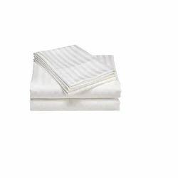 Satin Stripe Flat Sheet