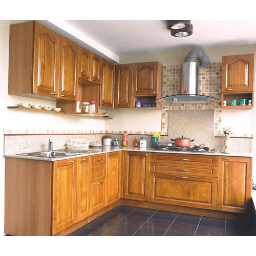 Modular Kitchen: Plywood L Shaped Modular Kitchen, Rs 1500 /square Feet, S