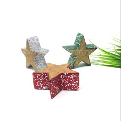 Decorative Wooden Star Ornaments Christmas Decorations