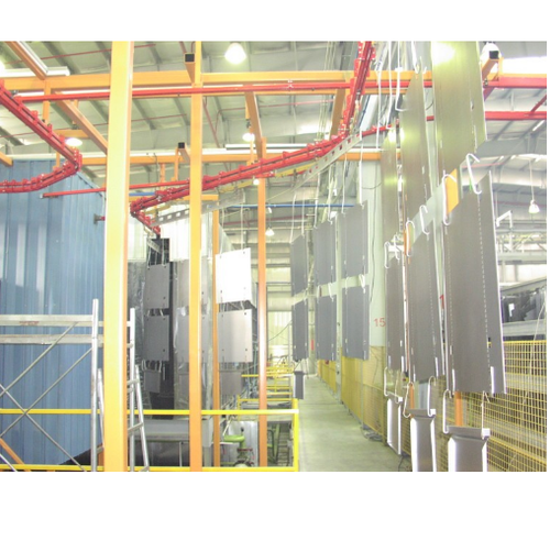 Factory Price Powder Coating Stainless Steel Kitchen: Conveyorised Powder Coating