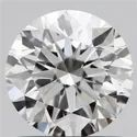 1.01ct Lab Grown Diamond CVD F VVS2 Round Brilliant Cut Type2A