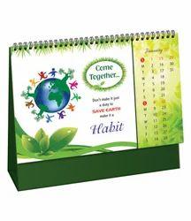 Metallic Desk Calendar Printing