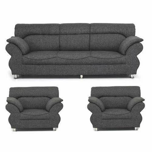 Fabric Dark Gray, Black And Grey Jamaica Dark Grey 5 Seater Sofa Set ...