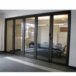 Partition Doors Black Sliding Glass Door, For Home, Interior