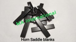 Black Buffalo Horn Saddle Blank