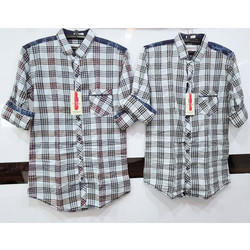 Regular Fit Mens Check Shirt