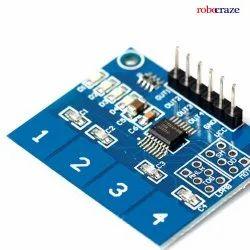 Robocraze TTP224 4 Channel Digital Capacitive Touch Sensor For Arduino