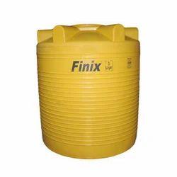 Yellow Round Plastic Water Storage Tank