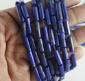 Lapis Lazuli Plain Smooth Pipe Tube Beads