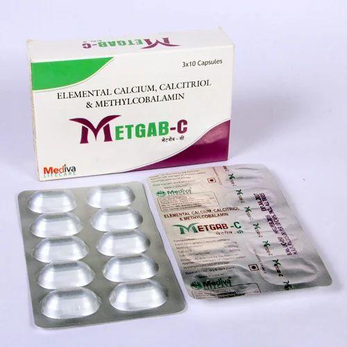 Methylcobalamin, Calcitrol, Calcium Carbonate Capsule, Packaging Type: Alu-alu, Packaging Size: 10 X 10