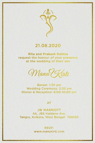 Designer Wedding Invitation Card