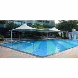 Modular White Swimming Pool Tensile Cover