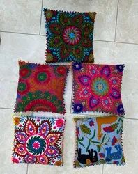 Suzani Embroidered Cotton Cushion Covers