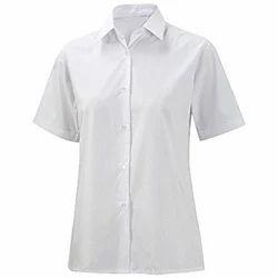 White Plain School Uniform Cotton Shirt