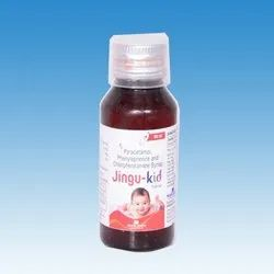 Jingu Kid Kids Paracetamol Phenylephrine and Chlorpheniramine Syrup, Packaging Type: Plastic Bottle